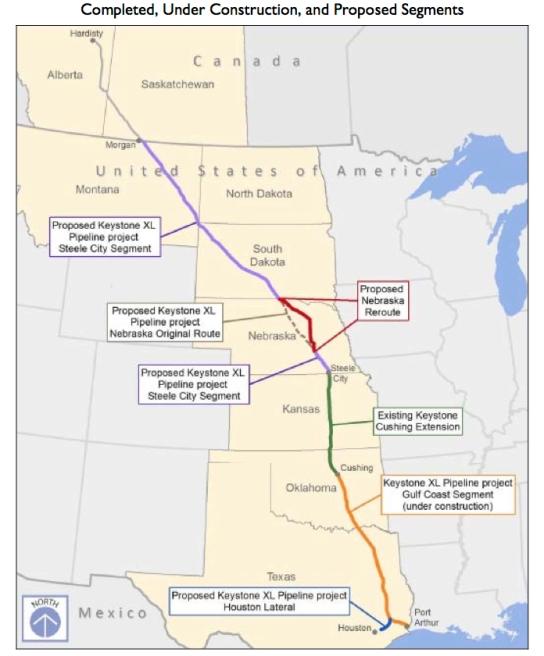 KeystoneXL-pipeline-route