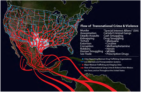 Mexican-gang-and-drug-cartel-routes