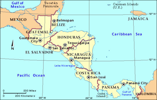 map_of_central_america_and_mexico