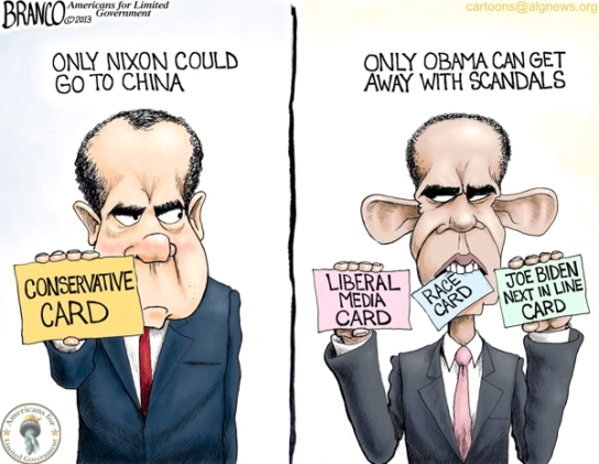 Obama Nixon Political Cartoon