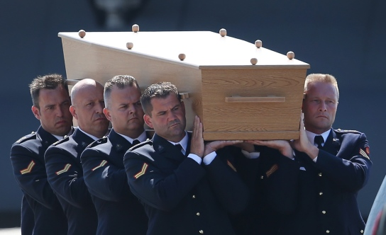 The Bodies Of The MH17 Plane Crash Are Repatriated From The Ukraine To The Netherlands