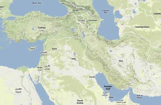 Iran-Turkey-map