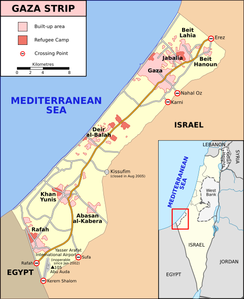 map-of-gaza-strip