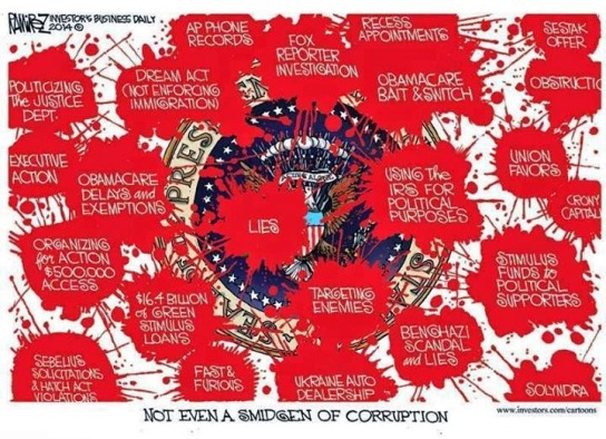Cartoon - Obama Scandals and Corruption