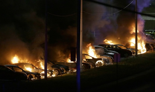 cars-burn-at-a-dealership-tuesday-nov-25-2014-in-dellwood-mo1
