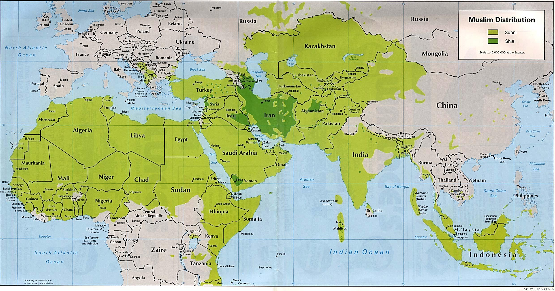 map muslim distribution