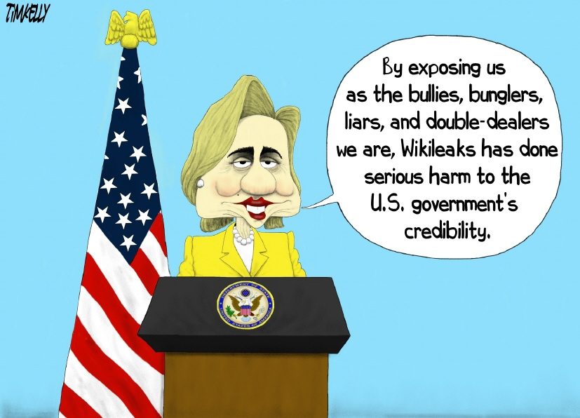 Image result for wikileaks and hillary cartoons