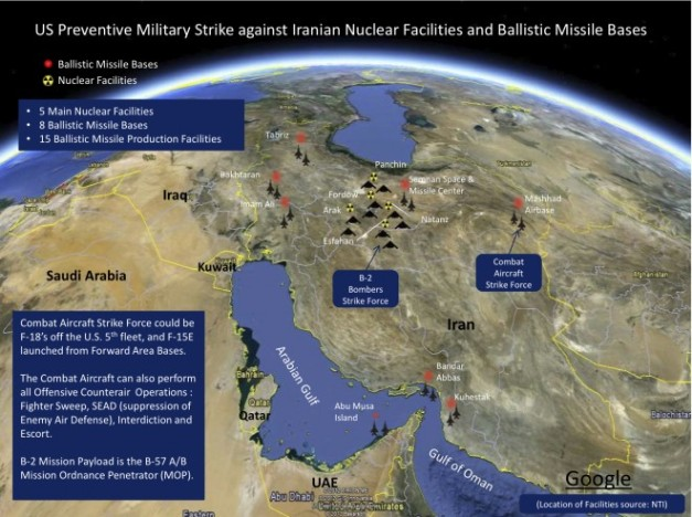 US-preventative-strike-against-Iranian-nuclear-facilities-and-ballistic-missile-bases