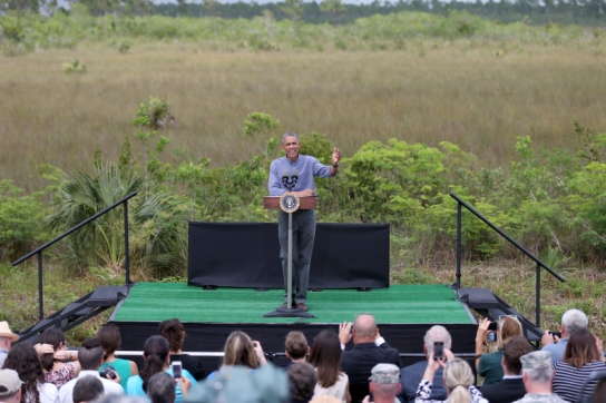 Obama Visits Everglades National Park On Earth Day To Discuss Climate Change