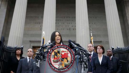 Baltimore state attorney Marilyn Mosby speaks on recent violence in Baltimore