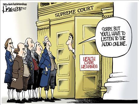 supreme court and obamacare, obama cartoons