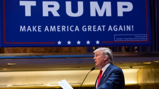 Donald Trump, president and chief executive of Trump Organization Inc., speaks while announcing he will seek the 2016 Republican presidential nomination at Trump Tower in New York, U.S., on Tuesday, June 16, 2015. Billionaire television personality and business executive Donald Trump formally began his Republican presidential campaign today in Manhattan, saying that the United States has become