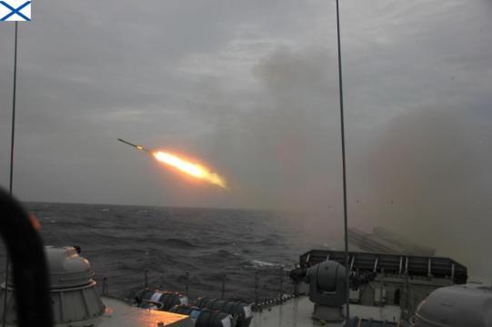 corvette missile fired