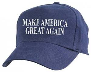 blue trum cap make america