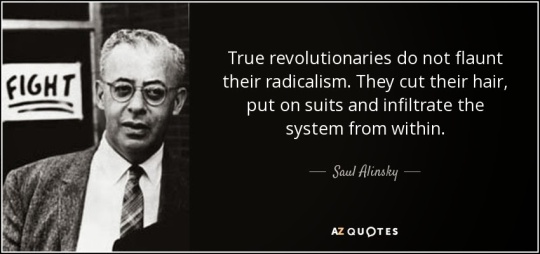 alinsky from within wear suit and tie