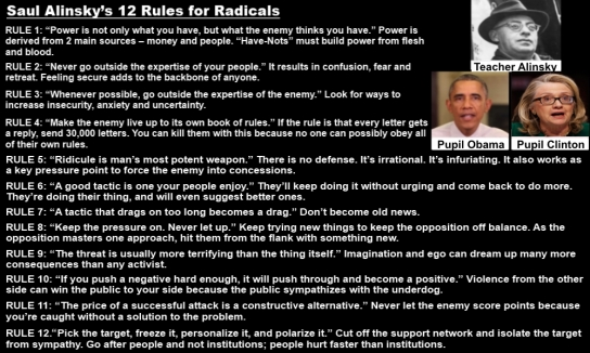 Lying Lunatic Left and Radical Islam Attacks American People — Saul Alinsky's Rules For Radicals ...