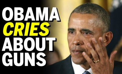 obama cries about guns