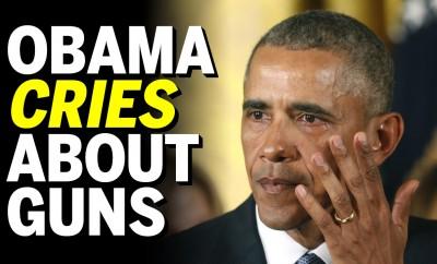 obama cries about guns