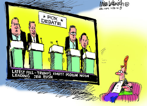 trump-skips-gop-debate-cartoon-luckovich