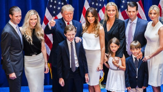 donald-trump-and-family-presidential-annoucement