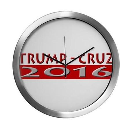 trump_cruz_2016_modern_wall_clock