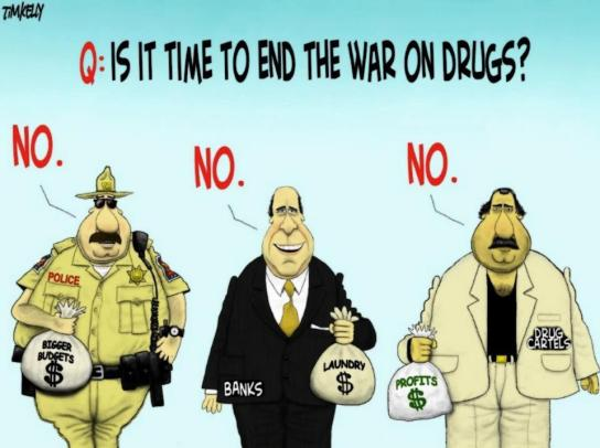 tim kelly cartoon - war on drugs