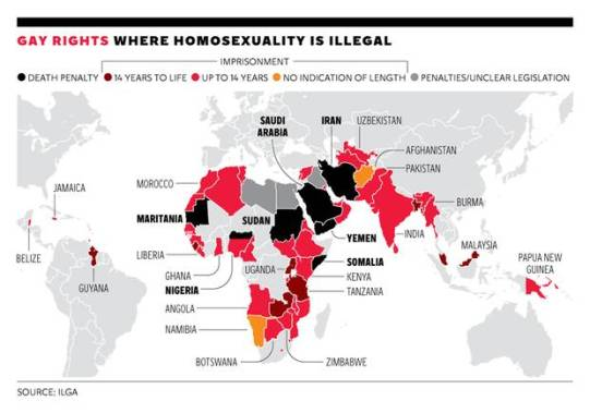 under sharia law Homosexuals are executed
