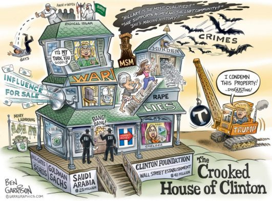 Clinton-Crooked-House-of-ben-garrison