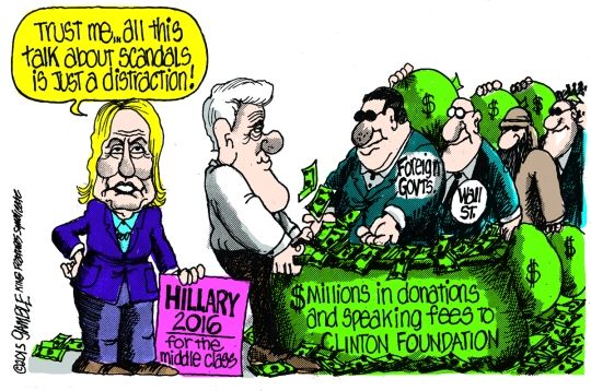 Image result for clinton foundation is a racket