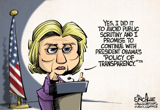 clinton public scrutiny