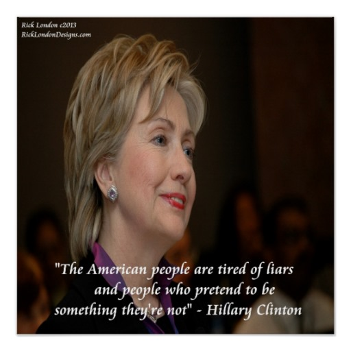 hillary_clinton_america_liars_quote_poster