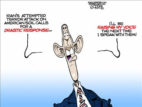 iranian terror attack, obama cartoons