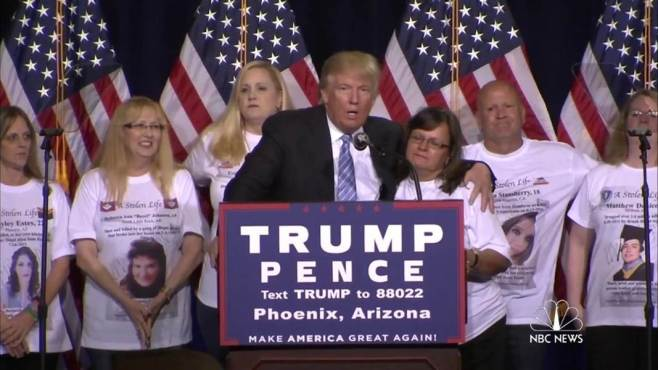 Trump with Angel Moms