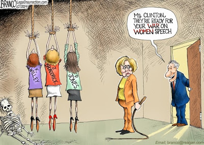 Image result for cartoons hillary clinton war on women