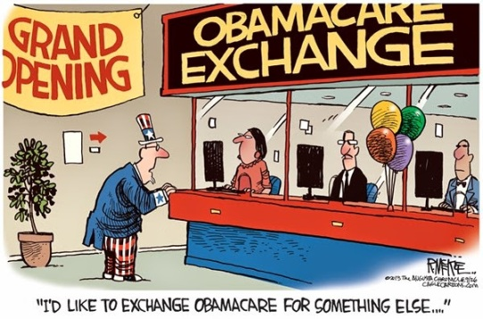 Image result for cartoons obamacare premium increases