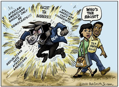 Image result for cartoons democrat party playing racist card
