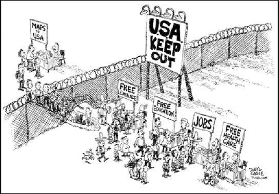 Image result for cartoons illegal alien invasion of united states