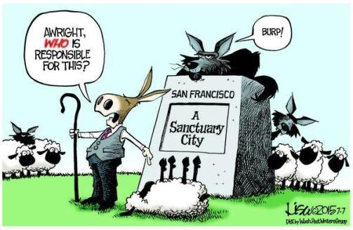 Image result for branco cartoons sanctuary cities