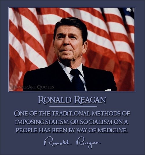 Image result for ronald reagan on socialized medicine