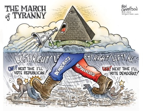 Image result for cartoons two party tyranny
