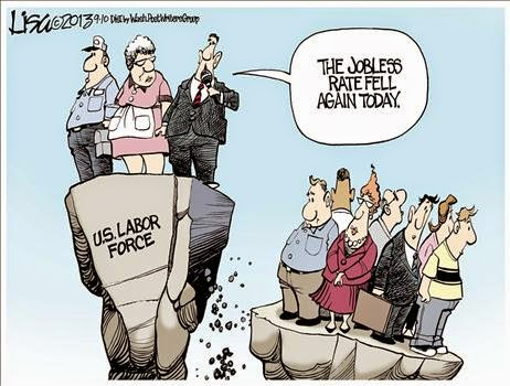Image result for cartoons on unemployment rate and labor participation